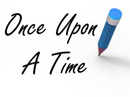 Free Stock Photo of Once Upon a Time with Pencil Shows Long Ago Nostalgia