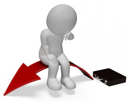 Free Stock Photo of Arrow Businessman Represents Lack Of Success And Anguish 3d Rendering