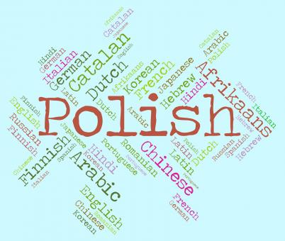 Free Stock Photo of Polish Language Shows Vocabulary Word And Lingo