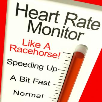 Free Stock Photo of Heart Rate Monitor Very Fast Showing Quick Beats