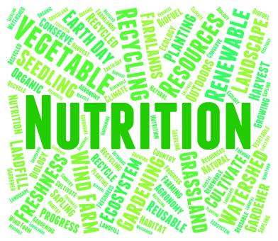 Free Stock Photo of Nutrition Word Shows Food Words And Nutriments