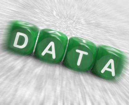 Free Stock Photo of Data Dice Displays Info Statistics And Backup
