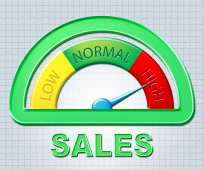 Free Stock Photo of High Sales Indicates Gauge Max And Offer