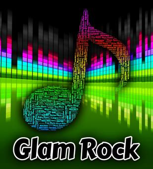 Free Stock Photo of Glam Rock Indicates Sound Track And Harmonies