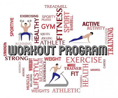Free Stock Photo of Workout Program Means Get Fit And Athletic