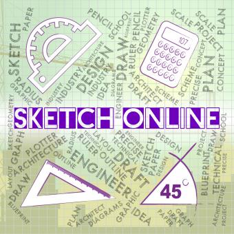Free Stock Photo of Sketch Online Means Web Site And Creative