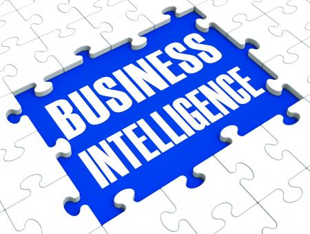 Free Stock Photo of Business Intelligence Puzzle Shows Companys Opportunities