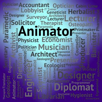Free Stock Photo of Animator Job Represents Word Hire And Career