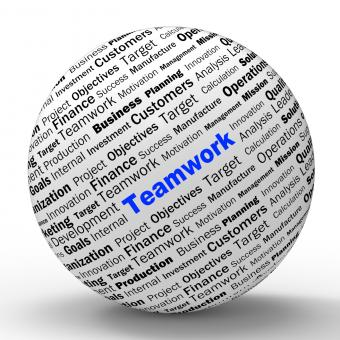Free Stock Photo of Teamwork Sphere Definition Means Unity And Partnership