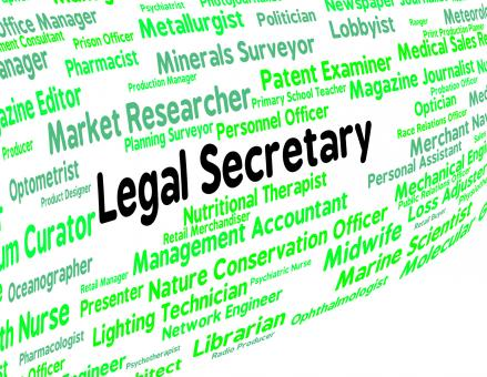 Free Stock Photo of Legal Secretary Represents Clerical Assistant And Pa