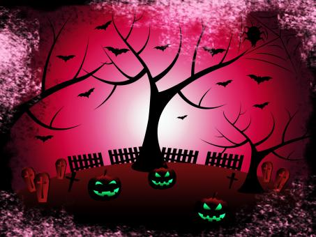 Free Stock Photo of Tree Halloween Shows Trick Or Treat And Autumn