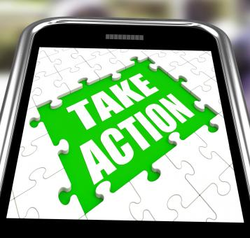 Free Stock Photo of Take Action Smartphone Means Urge Inspire Or Motivate