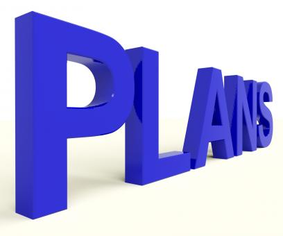 Free Stock Photo of Plans Word As Symbol for Targets And Goals
