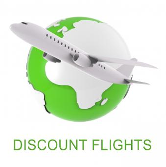 Free Stock Photo of Discount Flights Shows Fly Airline And Air 3d Rendering