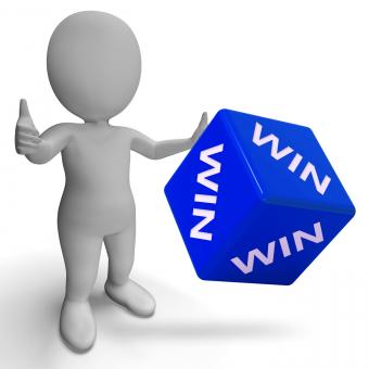 Free Stock Photo of Win Dice Showing Success Winner Succeed