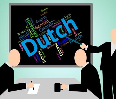 Free Stock Photo of Dutch Language Shows The Netherlands And International