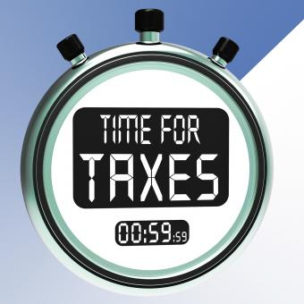 Free Stock Photo of Time For Taxes Message Meaning Taxation Due
