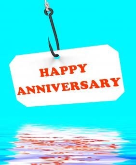 Free Stock Photo of Happy Anniversary On Hook Displays Romantic Celebration Or Remembrance