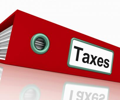 Free Stock Photo of Taxes File Contains Taxation Reports And Documents