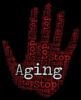 Free Stock Photo of Stop Aging Shows Getting Old And Caution