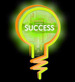Free Stock Photo of Success Lightbulb Represents Victor Winner And Prevail