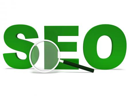 Free Stock Photo of Seo Word Shows Search Engine Optimization Websites Online