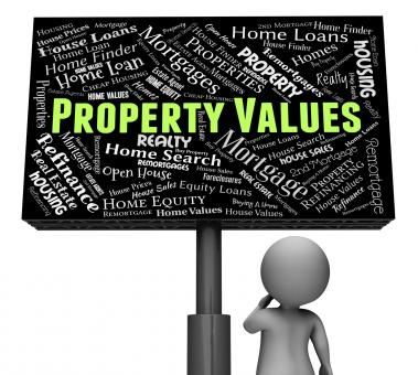 Free Stock Photo of Property Values Shows Real Estate And Amount