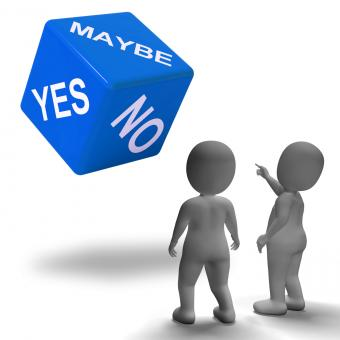 Free Stock Photo of Maybe Yes No Dice Represents Uncertainty And Decisions