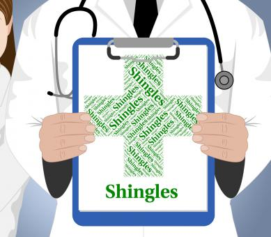 Free Stock Photo of Shingles Word Shows Viral Disease And Afflictions