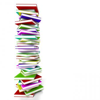 Free Stock Photo of Stack Of Books With Copyspace Representing Learning And Education