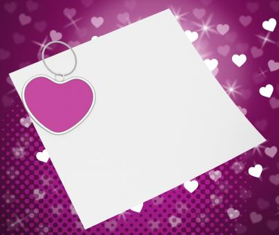Free Stock Photo of Heart Clip On Note Shows Romantic Message Or Love Letter