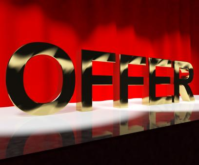 Free Stock Photo of Offer Word On Stage Meaning Discount Show Or Shows