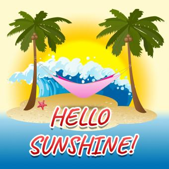Free Stock Photo of Hello Sunshine Indicates Summer Time And Beach