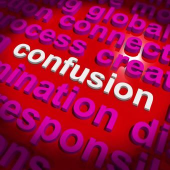 Free Stock Photo of Confusion Word Cloud Means Confusing Confused Dilemma