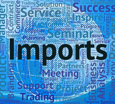 Free Stock Photo of Imports Word Represents Buy Abroad And Business