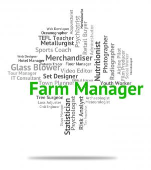 Free Stock Photo of Farm Manager Means Farmed Supervisor And Employee