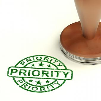 Free Stock Photo of Priority Stamp Showing Rush And Urgent Services