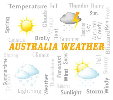 Free Stock Photo of Australia Weather Indicates Meteorological Conditions And Forecast