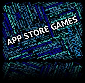 Free Stock Photo of App Store Games Means Retail Sales And Applications