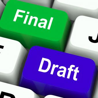 Free Stock Photo of Final Draft Keys Show Editing And Rewriting Document