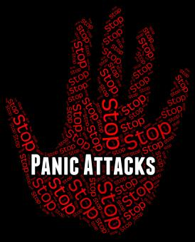 Free Stock Photo of Stop Panic Shows Warning Sign And Attack