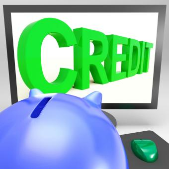 Free Stock Photo of Credit On Monitor Showing Money Loan