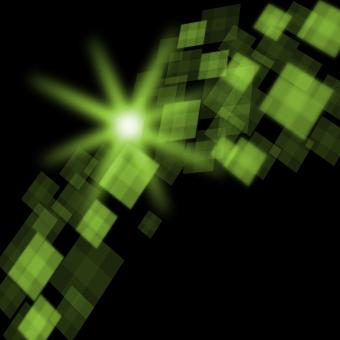 Free Stock Photo of Green Cubes Background Means Futuristic Concept Or Pixeled Design