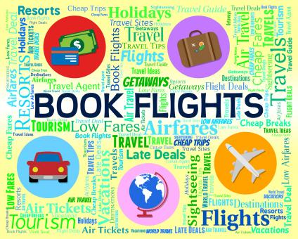 Free Stock Photo of Book Flights Shows Ordered Airplane And Reservations