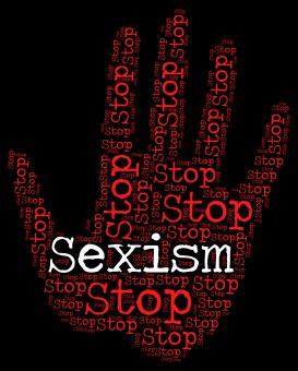 Free Stock Photo of Stop Sexism Shows Sexual Discrimination And Caution