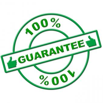 Free Stock Photo of Hundred Percent Guarantee Represents Completely Promise And Ensure