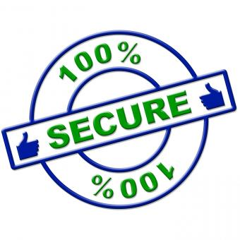 Free Stock Photo of Hundred Percent Secure Indicates Login Protect And Secured