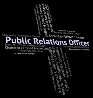 Free Stock Photo of Public Relations Officer Represents Press Release And Career