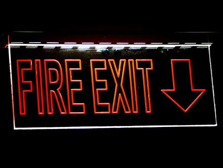 Free Stock Photo of Fire Exit Sign For Emergency