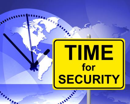 Free Stock Photo of Time For Security Indicates At The Moment And Encryption